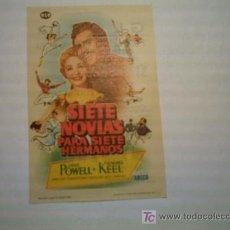 Foglietti di film di film antichi di cinema: SIETE NOVIAS PARA SIETE HERMANOS. JANE POWELL. HOWARD KEEL. Lote 40587814