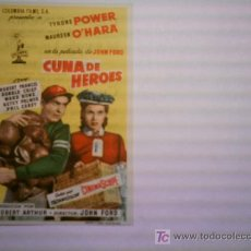 Flyers Publicitaires de films Anciens: CUNA DE HEROES. TYRONE POWER. MAUREEN O´HARA. Lote 165120158