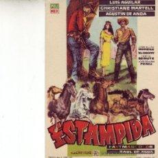 Cine: ESTAMPIDA -PROGRAMA DE MANO AÑO 1960. Lote 24561644
