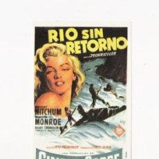 Cine: RIO SIN RETORNO, PROGRAMA DE MANO, GRAFICAS MARFIL, AÑO 1982. Lote 115382070