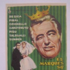 Cine: EL MARQUES SU SOBRINA Y LA DONCELLA - VITTORIO DE SICA SILVIA PINAL ANTONIO CIFARIELLO. Lote 3912327