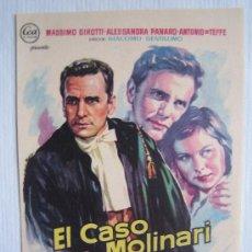 Cine: EL CASO MOLINARI - SOLIGO - CINE Y JUICIOS GIACOMO GENTILOMO MASSIMO GIROTTI FOLLETO MANO. Lote 4079733