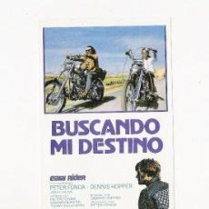 Cine: BUSCANDO MI DESTINO, EASY RIDER, PROGRAMA DE MANO. Lote 112042622