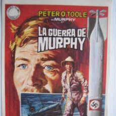 Cine: LA GUERRA DE MURPHY - PETER O'TOOLE - JANO FOLLETO DE MANO 2ª GUERRA MUNDIAL SUBMARINO SUBMARINE. Lote 3924901