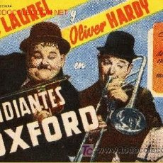 Cine: CIFESA - STAN LAUREL & OLIVER HARDY - ESTUDIANTES DE OXFORD -. Lote 10838196