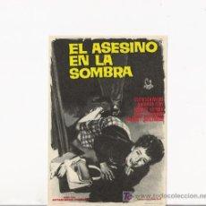 Cine: EL ASESINO EN LA SOMBRA, PROGRAMA ORIGINAL. Lote 96077423