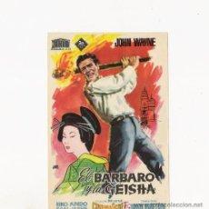 Cine: EL BARBARO Y LA GEISHA, PROGRAMA ORIGINAL, DE LA FOX. Lote 112151523