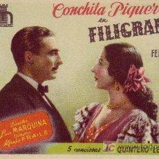 Cine: FILIGRANA CON CONCHITA PIQUER. Lote 24798406