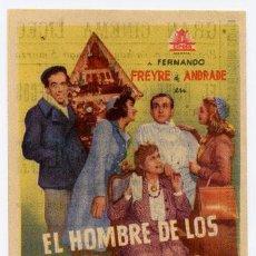 Cine: EL HOMBRE DE LOS MUÑECOS PROGRAMA SENCILLO CIFESA CINE ESPAÑOL PACO MARTINEZ SORIA RARO. Lote 18426738