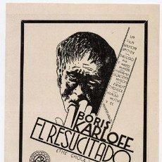 Cine: EL RESUCITADO PROGRAMA DOBLE ATLANTIC BORIS KARLOFF TERROR. Lote 18528706