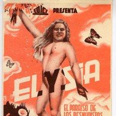 Cine: ELYSIA PROGRAMA DE MANO TARJETA EDICI NUDISMO. Lote 5264620