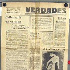Cine: LOS AVERIADOS PROGRAMA GRANDE FORMATO PERIODICO DOCUMENTAL 1933. Lote 11314756