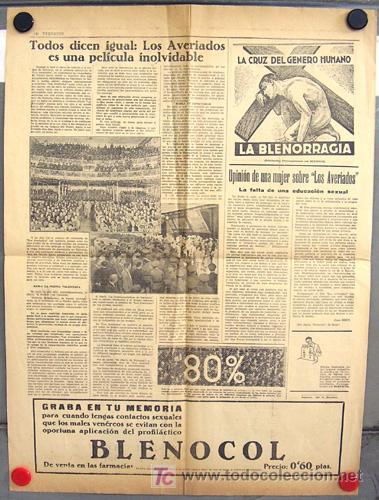 Cine: LOS AVERIADOS PROGRAMA GRANDE formato PERIODICO DOCUMENTAL 1933 - Foto 2 - 11314756