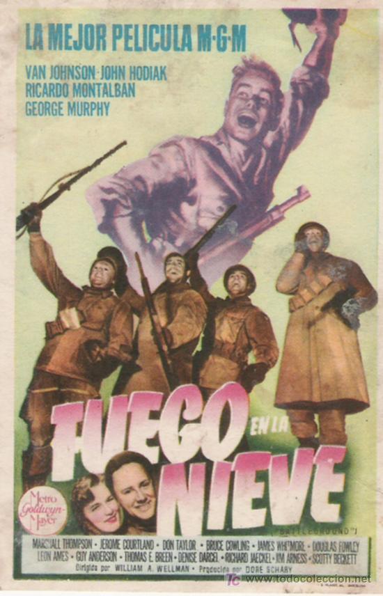 FUEGO EN LA NIEVE (Cine - Folletos de Mano)