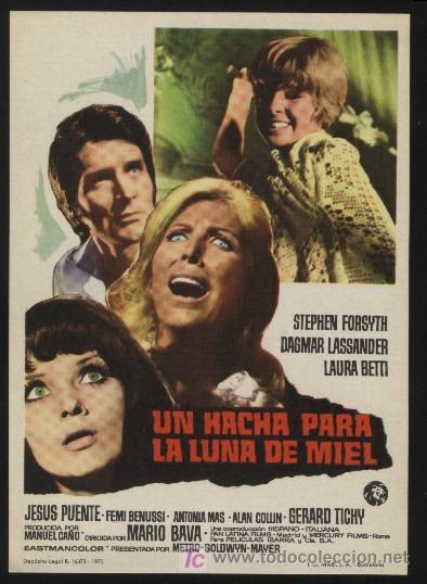 P-0215- UN HACHA PARA LA LUNA DE MIEL (IL ROSSO SEGNO DELLA FOLLIA (BLOOD BRIDES)) STEPHEN FORSYTH (Cine - Folletos de Mano - Terror)