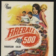 Cine: P-0638- FIREBALL 500 (FRANKIE AVALON - ANNETTE FUNICELLO - FABIAN - CHILL WILLS - HARVEY LEMBECK). Lote 21674122