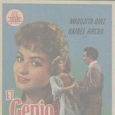 Cine: EL GENIO ALEGRE (PROGRAMA DE MANO ORIGINAL). Lote 4098798