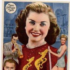 Flyers Publicitaires de films Anciens: ESCUELA DE SIRENAS PROGRAMA SENCILLO MGM ESTHER WILLIAMS B. Lote 6308975