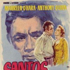 Cine: SANTOS EL MAGNIFICO CON MAUREEN O'HARA Y ANTHONY QUINN. Lote 25738590