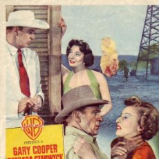 Cine: SOPLO SALVAJE CON GARY COOPER, BARBARA STANWYCK,RUTH ROMAN Y ANTHONY QUINN. Lote 25913034