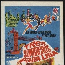 Cine: P-3422- TRES SOMBREROS PARA LISA (THREE HATS FOR LISA) JOE BROWN - SOPHIE HARDY - SIDNEY JAMES. Lote 21865803