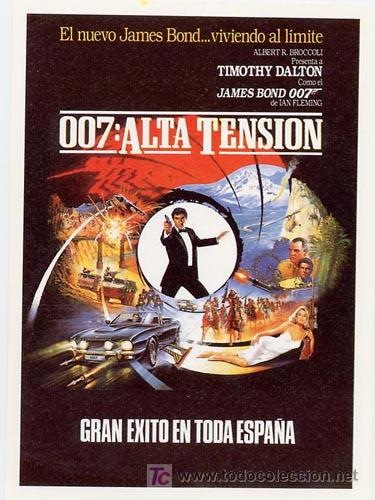 007 ALTA TENSION PROGRAMA SENCILLO UIP TIMOTHY DALTON JAMES BOND (Cine - Folletos de Mano - Acción)