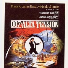 Cine: 007 ALTA TENSION PROGRAMA SENCILLO UIP TIMOTHY DALTON JAMES BOND. Lote 58837301