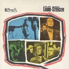 Cine: 13 CALLE OESTE PROGRAMA SENCILLO FILMAYER ALAN LADD ROD STEIGER. Lote 165633682