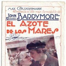 Cine: LA FIERA DEL MAR PROGRAMA DOBLE URUGUAYO WARNER JOHN BARRYMORE JOAN BENNETT. Lote 4270614