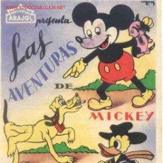 Cine: WALT DISNEY - ARAJOL - LAS AVENTURAS DE MICKEY PLUTO Y PATO DONALD -. Lote 4286119