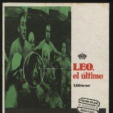 Cine: P-0288- LEO, EL ULTIMO (LEO THE LAST) MARCELLO MASTROIANNI - BILLIE WHITELAW - CALVIN LOCKHART. Lote 109899071