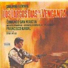 Cine: 19-196. LOS LARGOS DÍAS DE LA VENGANZA. DIBUJO LEAL. Lote 4346917