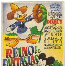 Cine: REINO DE FANTASIAS PROGRAMA SENCILLO ARAJOL WALT DISNEY. Lote 7322522