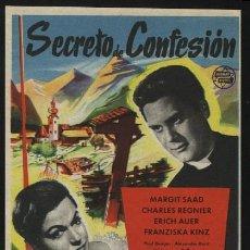 Cine: P-0055- SECRETO DE CONFESION (HERNAN FILMS) (MARGIT SAAD - CHARLES REGNIER - ERICH AUER). Lote 109867416