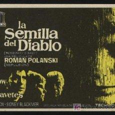 Cine: P-0293- LA SEMILLA DEL DIABLO (ROSEMARY'S BABY) MIA FARROW - JOHN CASSAVETES - RUTH GORDON. Lote 121175891