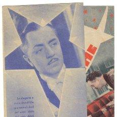 Cine: ESTRELLA DE MEDIANOCHE PROGRAMA DOBLE RKO WILLIAM POWELL GINGER ROGERS. Lote 5084442