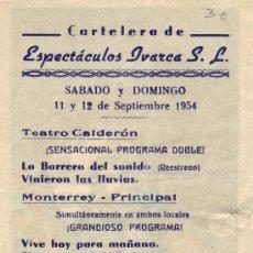 Cine: REVERSO DEL PROGRAMA -EL INSPECTOR DE HIERRO. Lote 26464011