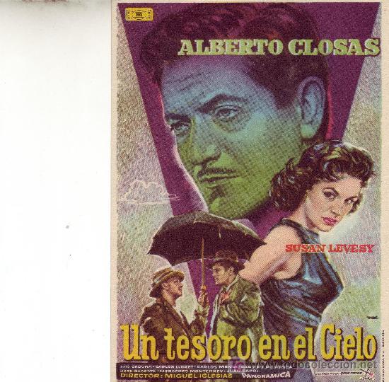 UN TESORO EN EL CIELO CON ALBERTO CLOSAS- PROGRAMA DE MANO (Cine - Folletos de Mano)