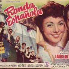 Cine: PROGRAMA DE MANO RONDA ESPAÑOLA CON COROS Y DANZAS DE ESPAÑA. Lote 21510069