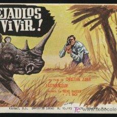 Flyers Publicitaires de films Anciens: P-0152- ¡DEJADLOS VIVIR! (LAISSEZ-LES VIVRE) CHRISTIAN ZUBER. Lote 155327106