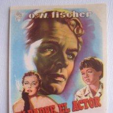 Cine: MI PADRE EL ACTOR - CIRE FILMS ROBERT SIODMAK - FOLLETO DE MANO CIRE FILMS. Lote 4537202