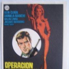 Cine: OPERACION LADY CHAPLIN - KEN CLARK DANIELA BIANCHI HELGA LINÉ - FOLLETO DE MANO ORIGINAL. Lote 4542113