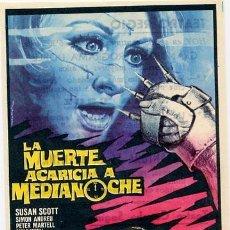 Cine: LA MUERTE ACARICIA A MEDIANOCHE PROGRAMA SENCILLO CB LUCIANO ERCOLI GIALLO. Lote 29878033