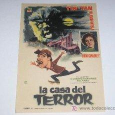 Cine: FOLLETO DE MANO - LA CASA DEL TERROR. Lote 4576718