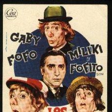 Cine: P-1605- LOS PADRINOS (HABIA UNA VEZ UN CIRCO) GABY - FOFO - MILIKI - FOFITO. Lote 21017398