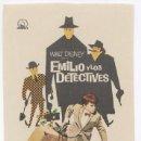 Cine: EMILIO Y LOS DETECTIVES PROGRAMA SENCILLO DIPENFA WALT DISNEY RARO. Lote 4644473