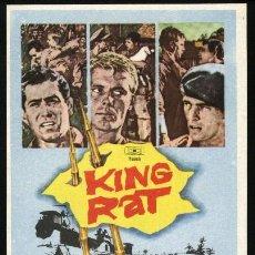 Cine: P-3393- KING RAT (GEORGE SEGAL - TOM COURTENAY - JAMES FOX - PATRICK O'NEAL). Lote 25558209