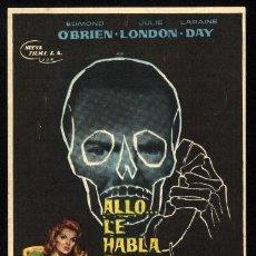 Cine: P-3458- ALLO... LE HABLA EL ASESINO (THE 3RD VOICE) COLISEUM GARCILASO - TORRELAVEGA EDMOND O'BRIEN. Lote 25637398