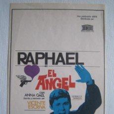 Cine: EL ANGEL - RAPHAEL. Lote 4722024
