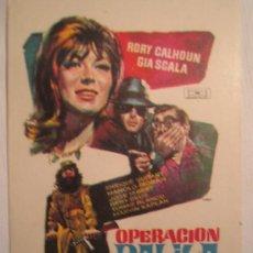 Cine: OPERACION DALILA - FOLLETO MANO ORIGINAL - MAC MACARIO GOMEZ - RORY CALHOUN GIA SCALA. Lote 10509784